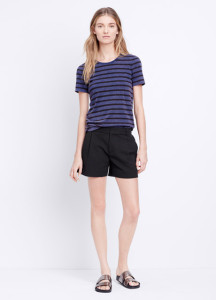 Vince Textured Pleated Front Short