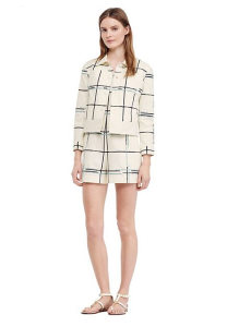Tory Burch Stretch Canvas Jacket and Short Set