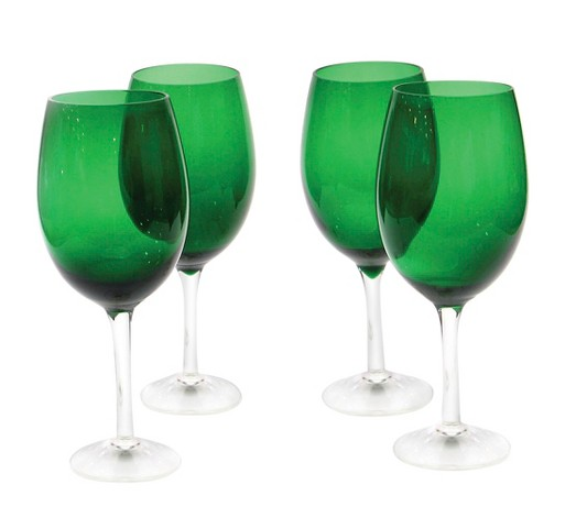 Target Certified International Green Wine Glass